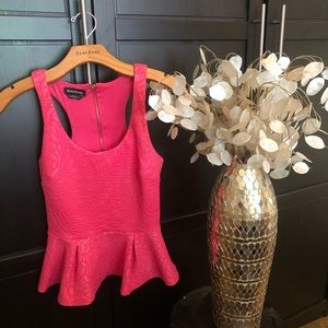 Bebe Pink Peplum Top